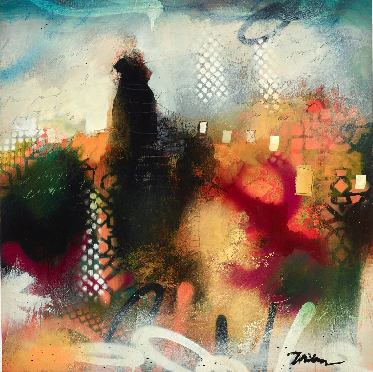 Contemporary Balance I by john and elli milan -  sized 16x16 inches. Available from Whitewall Galleries